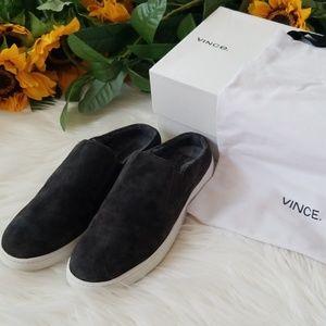Vince Verrell Fur-Lined Slide Skate Sneaker